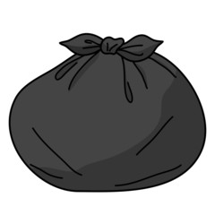 trash bags isolated illustration