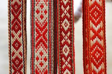 Белорусские традиционные пояса с орнаментом