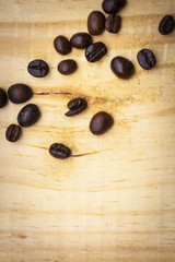 Roasted coffee beans use for background