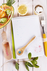 Spring themed cooking concept with copy space