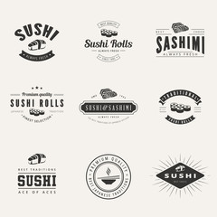 Japanese Cuisine Retro Hipster Logo design typography
