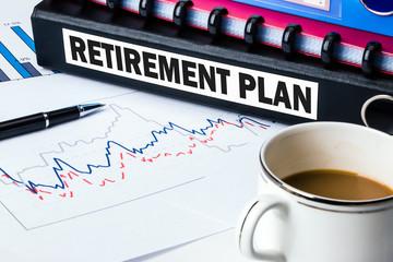 retirement plan label on folder