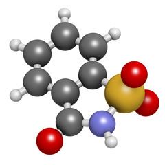 Saccharin artificial sweetener molecule.