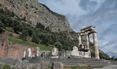 Sacred Temple of Athena in Delph