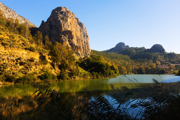 Reservoir at Chorro river. Andalusia