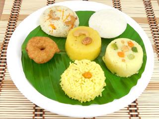 South Indian Vegetarian Breakfast
