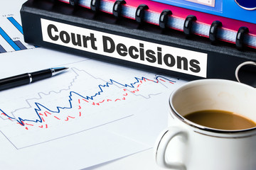 document folder with label court decisions