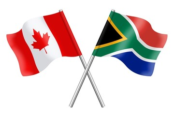 Flags: Canada and South Africa
