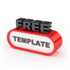Free Template Sign On White Background