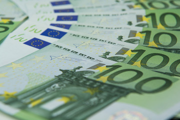 Hundred euro banknotes