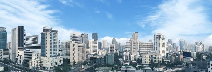Bangkok business center panorama view