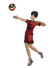 バレーボール選手 アタック