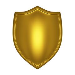 front-lit gold shield