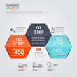 Modern Design Minimal infographic template