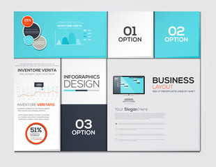 Modern Design Minimal infographic template