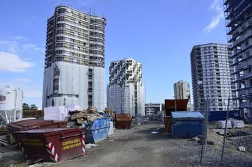 Baustelle Hochhäuser