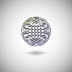 Halftone color sphere.