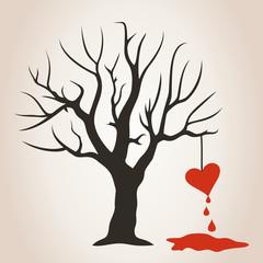 Heart on a tree