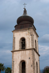 Bell tower cathedral of San Donato from Acerno city, Italy