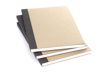 Brown notebook isolated on a white background