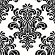 seamless damask pattern on white background - 78569303