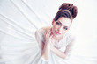 Closeup portrait of young gorgeous bride - 78569532