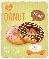 Vector donuts banner illustration