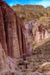 "The ""Amram pillars"" of pink sandstone"