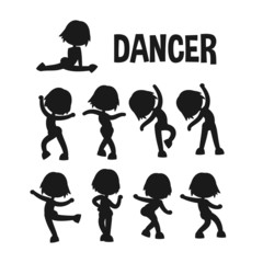 Different dancer poses.