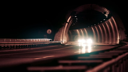 Freeway Traffic Night - HD 1080p footage