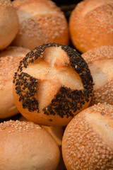 Wheat bread with sesame