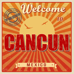 Cancun, Mexico vintage poster