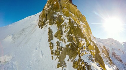 Aiguille du Midi - aerial view - French Alps