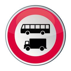 interdiction aux camions, bus et cars