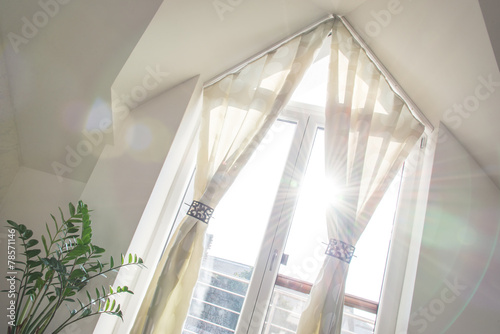 Balcony window in the living room - 78571146