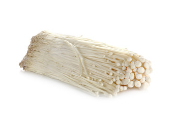 Enoki mushroom, Golden needle mushroom isolated on white
