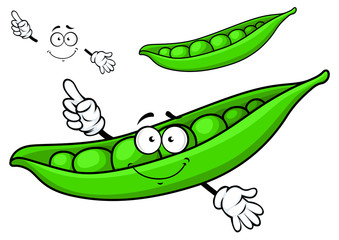 Cartoon green pea