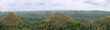 Panoramic view of the Chocolate Hills in Bohol, Philippines. - 78571768