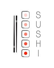 Emblem idea for Japanese restaurant sushi menu design