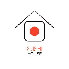 Emblem idea for Japanese restaurant sushi menu design