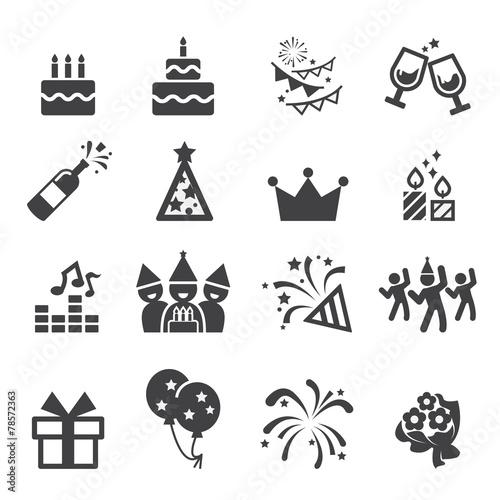 Zdjęcia na płótnie, fototapety, obrazy : birthday icon