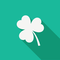 Saint Patrick's day simple background with basic icon of