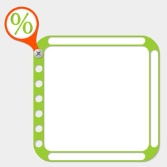 perforated frame for any text and percent symbol