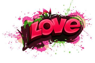Murales scritta LOVE