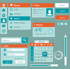 Phone user interface elements for website