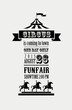 vintage poster with carnival, fun fair, circus vector background - 78574579
