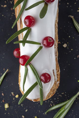 exquisite cream dessert eclair