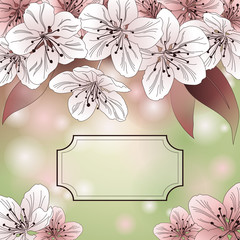 Pastel-colored spring background