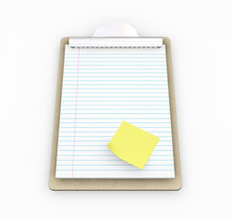 Clipboard with post-it note