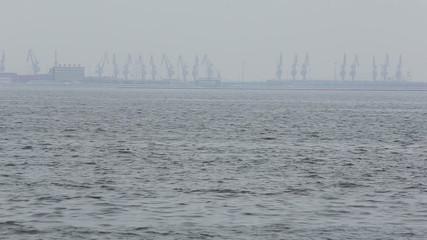 Container cargo harbor